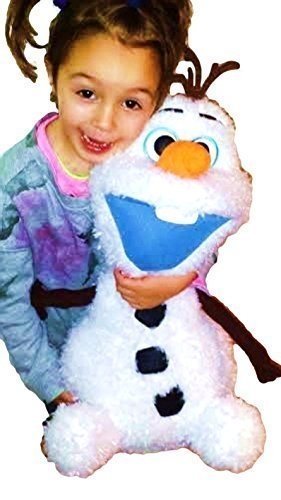 "Disney Frozen Exclusive . Fluffy & Soft Large Olaf Snowman With Cute Open Smile. Limited Edition. Total 22""H (55cm) . Japan Import. - 1"