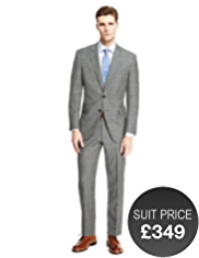 Savile Row Inspired Pure New Wool 2 Button Prince of Wales Checked Jacket