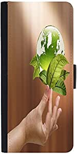 Snoogg Female Hand Holding Green Earth With A Growing Plantdesigner Protectiv...