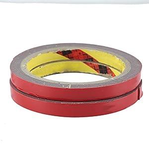 2Pcs Automotive Double Sided Acrylic Foam Tape Sticker Attachment for Car Auto Truck 3m X1cm