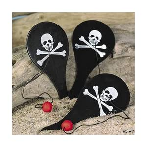 Click to buy Pirate Birthday Party Ideas: Pirate Paddle Balls from Amazon!