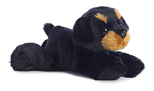 "Raina Rottweiler Mini Flopsie 8"" by Aurora - 1"