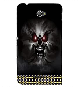 PrintDhaba Ghost D-5992 Back Case Cover for SONY XPERIA E4 (Multi-Coloured)