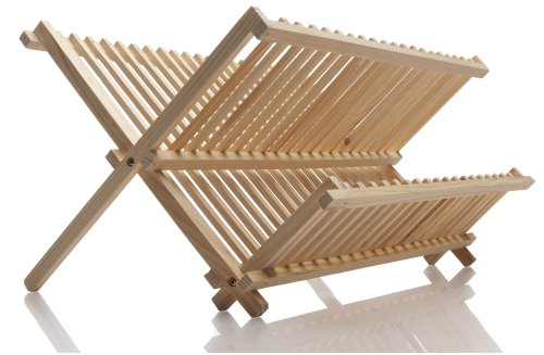 Norpro Pine Wood Folding Dish Rack (Portable Dish Drying Rack compare prices)