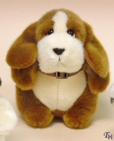 Russ Berrie Patience Plush Brown Dog - Small - 1