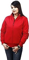 Absurd Women's Reversible Collar Jacket (ABWS14-628-RED-L, Red, L)