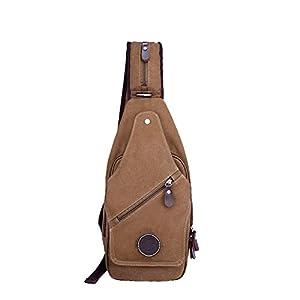 Aktion KayLena シリーズ 防水帆布バッグ Chest Bag 男性用 斜めがけバッグ ブラウン