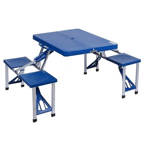 [New Outdoor Garden Portable Folding Camping Picnic Table With 4 Seats] (Tv Commercial Costumes Halloween)