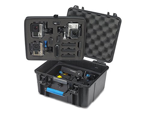 Supremery discount duty free Supremery Sup600 Floaty & Waterproof Rugged ABS Hard Case for GoPro Camera Hero 4, Hero 3+, Hero 3, Hero 2 Camera camcorder and Essential Accessories (Size: XL - black-blue)