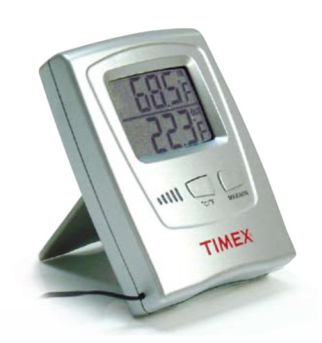 Timex Tx5020 Lcd Electronic Indoor And Outdoor Thermometer - Silver