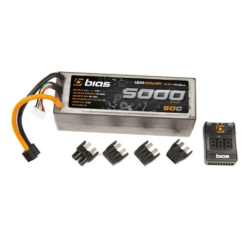 Bias 50C 4S 5000mAh 14.8V LiPo Battery Hard Case with UNI Plug