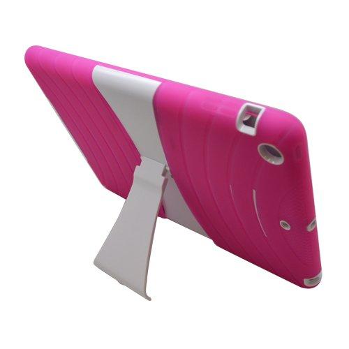 Buy  Eagle Cell Rugged Skin Case with Kickstand for iPad Air 5G (ECPAIPAD5B2WHHPK)