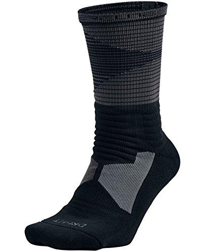 Nike Mens Hyper Elite Disruptor Basketball Crew Socks (Medium, Black/Anthracite) (Cool Nike Socks compare prices)