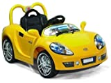 Andrew James Ride on Electric Sports Car in Yellow With Parental Remote Control