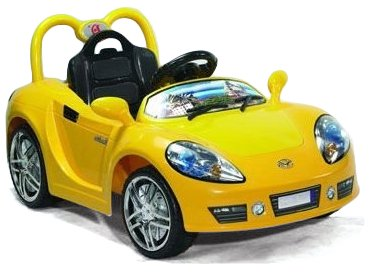 Andrew James Ride on Electric Battery Sports Car in Yellow with Parental Remote Control
