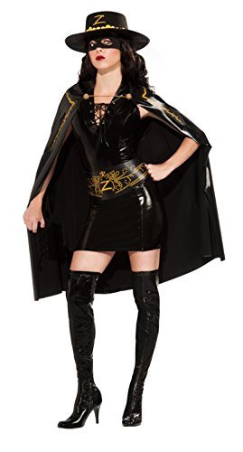 [Secret Wishes Women's Zorro Lady Zorro Adult Costume Dress, Multicolor, Small] (Adult Musketeer Costumes)