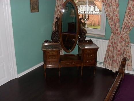 Tocador (usado) cómoda tocador marrón barroco estilo envejecido Vp0002