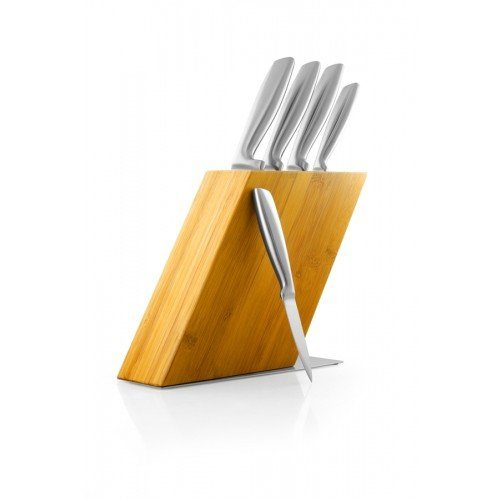 blocco coltelli/ porta coltelli Coninx - blocco portacoltelli dioga - Set di coltelli bamboo - ceppi portacoltelli vuoti - coltelli