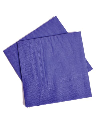 Lot Of 50 Purple Beverage Bar Party Napkins - 5""