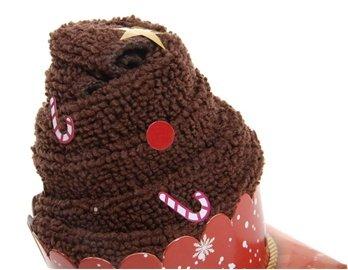 100% Cotton Christmas Ice Cream Design Towel (Coffee)