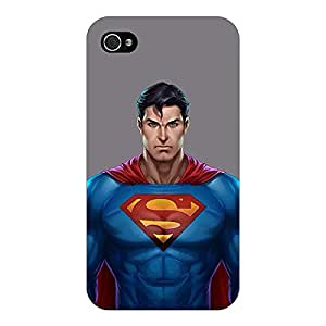 Jugaaduu Superheroes Superman Back Cover Case For Apple iPhone 4