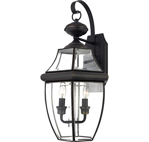 Quoizel NY8317Z Newbury 2-Light Outdoor Wall Lantern, Medici Bronze (Outdoor Electical Outlet compare prices)