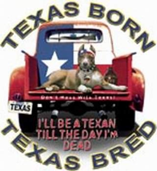 Buy Texas born Texas bred t-shirt