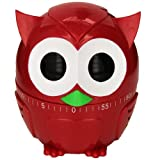 Kikkerland Owlet Kitchen Timer, Assorted Colors