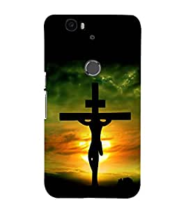 printtech Holy Cross Jesus Back Case Cover for Motorola Google Nexus 6P