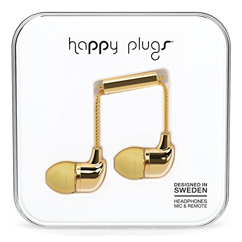 Happy Plugs 7728 In-Ear Headphones Gold (Happy Plugs Deluxe compare prices)