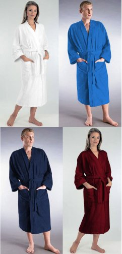 Bathrobes Online Mens and Womens Atlantis Style Light-Weight 100% Turkish Terry Cotton Kimono Bathrobe - 7 Colors & 5 Sizes - Made in TurkeyBathrobes Online Mens and Womens Atlantis Style Light-Weight 100% Turkish Terry Cotton Kimono Bathrobe - 7 Colors & 5 Sizes - Made in Turkey