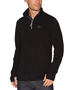 Quiksilver Men's AKER HZ-Aker Half Zip Polar - Black, XX-Large