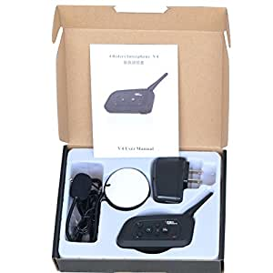 GOOACC 4Riders Interphone-V4 バイクインカム 四人同時通話可能