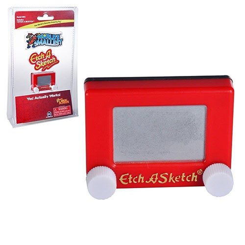 Etch A Sketch Miniature Edition- Pocket Sized Classic Sketching Pad that Really Works! - 1