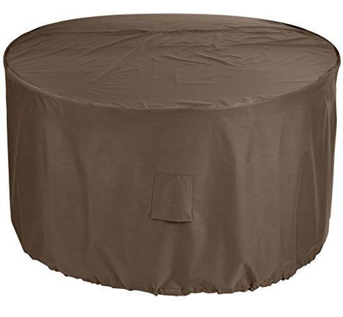 Abdeckplane-Sitzgruppe-rund-80x160-cm-Braune-Premium-Schutzhlle-Mbelschutzhllen-fr-runde-Gartengarnitur-Mae-80-cm-hoch-160-cm-Durchmesser-Abdeckung-Gartenmbel-Schutzhllen-Mbelsets-Premium-Qualitt-aus-