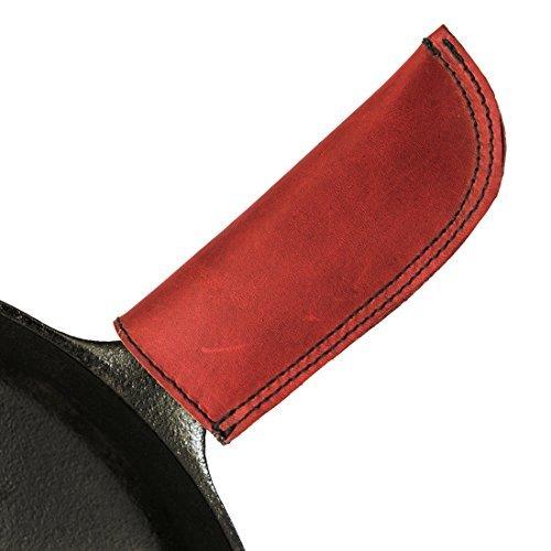 シンプルな革製の高温ハンドルホルダー(鋳鉄パンハンドルホルダー)