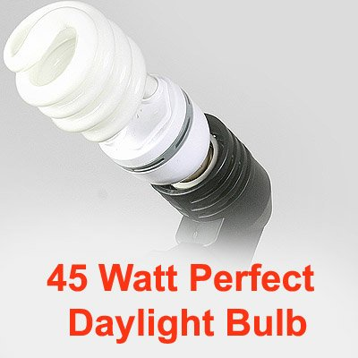 compact fluorescent cfl 45w perfect daylight grow light compact. Black Bedroom Furniture Sets. Home Design Ideas