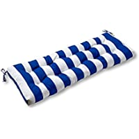 Greendale Home Fashions Indoor/Outdoor Swing/Bench Cushion (Cabana Blue)