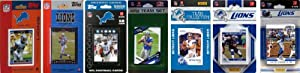 NFL Detroit Lions 7 Different Licensed Trading Card Team Sets by C&I Collectables