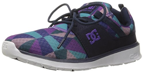 DC Heathrow SE Low Top Shoe, Purple Rain/Dusty Purple, 10.5 M US