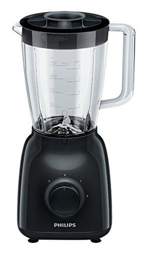 HR2105/90 Philips - Daily Collection Frullatore 400 W vaso di vetro 1,5 litro turbo 2 velocità, premere e agitare per mescolare, colore nero