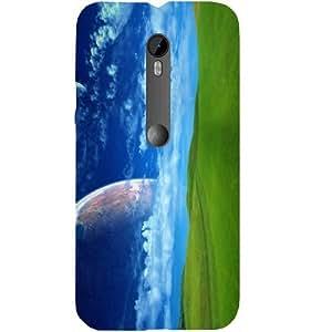 Casotec Green Field Design Hard Back Case Cover for Motorola Moto G 3rd Generation