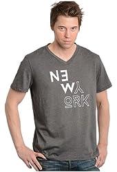G Zap Men's New York City Graphic V-Neck Cotton T-Shirt Top