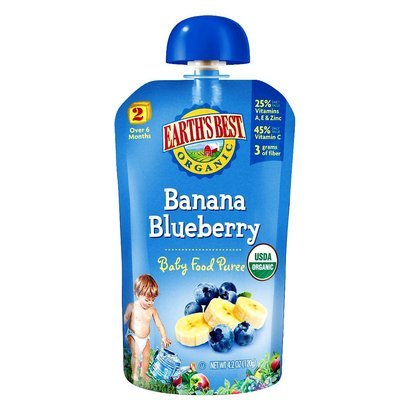 Earth'S Best (Hain) Cereal, 95% Organic, Blueberry Banana, 4 Oz (Pack Of 12 ) front-197268