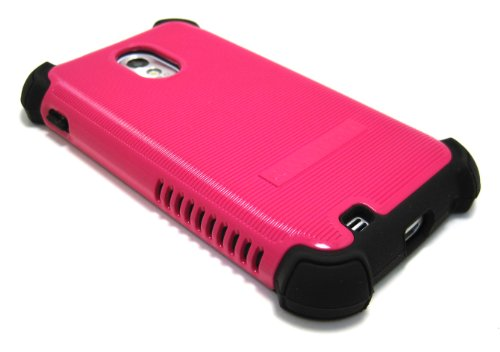 Cell-Nerds Nerdshield Grip Case Cover For The Sprint & Virgin Mobile Samsung Galaxy S2 (Sph-D710), Us Cellular Samsung Galaxy S2 (Sch-R760) & The Boost Mobile Samsung Galaxy S2 (Pink & Black)