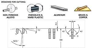 Amana Tool - 512961 Carbide Tipped Aluminum & Non-Ferrous Metals 12 Dia x 96T Tcg