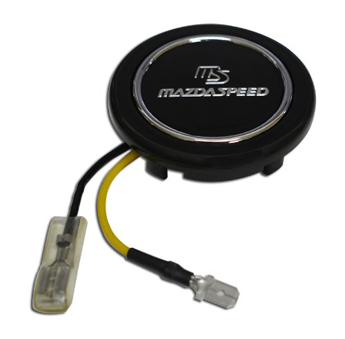 Mazdaspeed MS Steering Wheel Horn Button Crest for Mazda Protege Eunos Miata MX5 MX6 RX7 RX8 MAZDA 3 6 R3 323 626 CX7 CX9 M2 M3 M5 MPV RX3 R1 R2 12A 13A 13B JDM other models (Mazda 323 Steering Wheel compare prices)