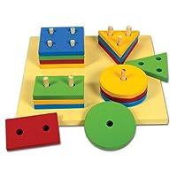 Skillofun Large Shape Sorter Board (4 Shape), Multi Color