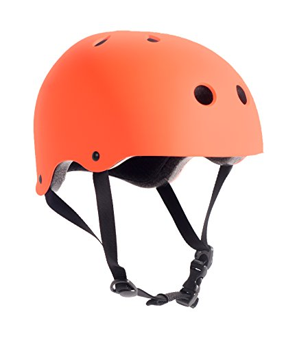 Critical Cycles Classic Commuter Bike and Skate Helmet, Small/Medium, Matte High-Vis Orange