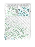 Devota&Lomba Colcha Lomba (Blanco/Verde)